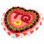 Tarta de chuches TQEl regalo más dulce para San Valentín: una tarta de chuches gigante.