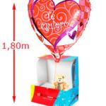 Globo Te QuieroOsito de peluche con un globo de gas con forma de corazón. Solo para románticos.